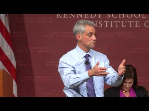 Rahm Emanuel in Conversation with Lois Romano | Institute of Politics