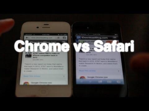 Google Chrome vs Safari on iPhone iOS