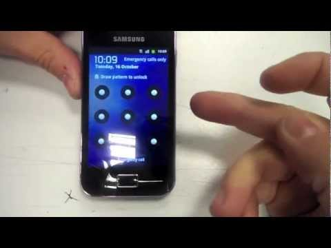 How To Remove Pattern/password Lock from Samsung Galaxy ace