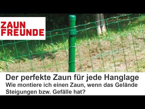 Hanglage - Montageanleitung Des Drahtzaunes Fix Clip Pro Am Hang