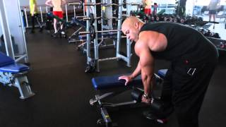 Back workout with Victor Martinez