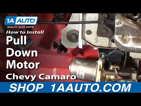 How To Install Replace Rear Pull Down Motor Chevy Camaro IROC-Z Pontiac Trans AM 82-92 1AAuto.com