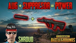 AUG + SUPPRESSOR - Shroud win solo FPP game - PUBG HIGHLIGHTS TOP 1 #38