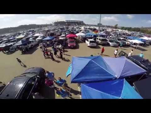 Drone over Chiefs vs Chargers Tailgate at Qualcomm Stadium