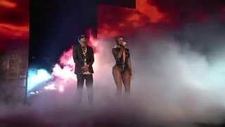 "Beyonce Video - Beyonce and Jay Z Kick Off ""On The Run"" Tour in Miami"