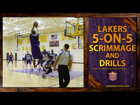 Lakers 5-On-5 Scrimmage Footage: Kobe, Nash, Nick Young Trash Talk