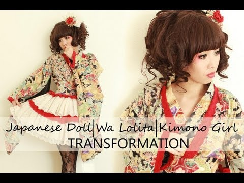 Japanese Doll/ Wa Lolita/ Kimono Girl Transformation