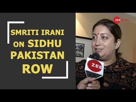 Sidhu Pakistan Row: Zee News busted pro-Pakistani face of Congress , says Smriti Irani
