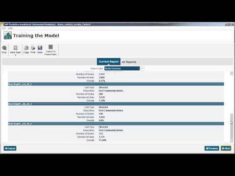 Automated Analytics - Create a social analysis: SAP Predictive Analytics 2.0