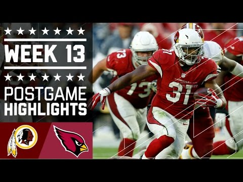 Redskins Vs Cardinals Nfl Week 13 Game Highlights