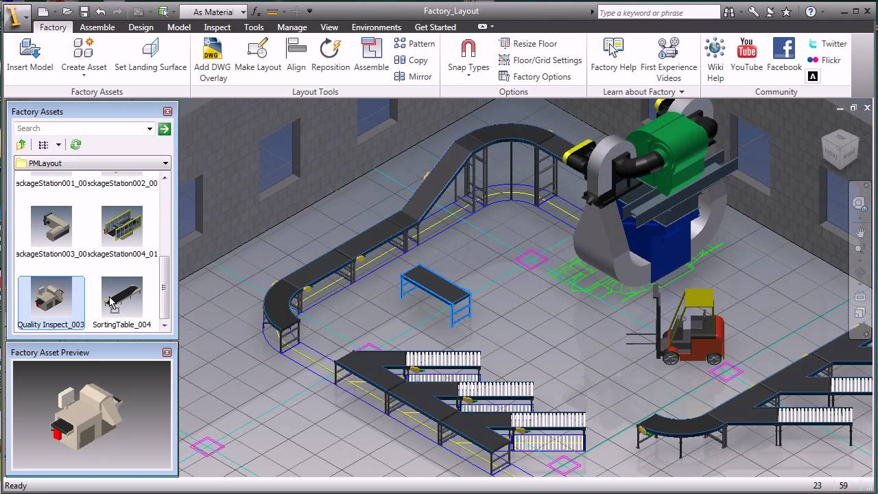autodesk factory design suite youtube. Black Bedroom Furniture Sets. Home Design Ideas