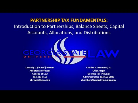 Introduction to Partnership Taxation and Fundamental Concepts