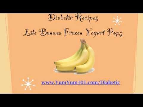 Diabetic Recipes | Lite Bananas In Frozen Yogurt Pops