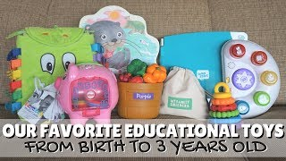 Our Favorite Educational Toys From Birth to 3 Years Old // 15+ Toys!!