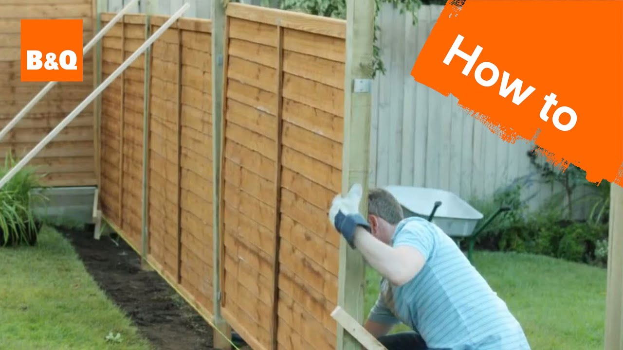 How to Erect a Fence - YouTube