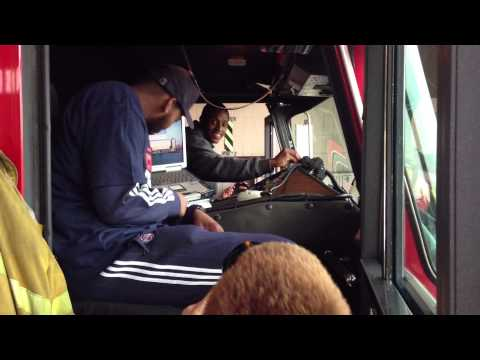 Detroit Pistons Brandon Knight & Greg Monroe at Engine 9, Ladder 6