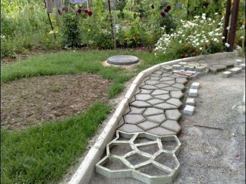 Как сделать дорожки из плитки на даче