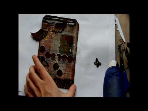 Mixed Media Bees Wax Tag - Part 2 of 3