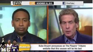 ESPN First Take - Kobe Bryant Announces Retirement at End of