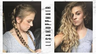 No-Heat Hairstyle | Overnight Dutch Braids for Big Waves | Lisa Huff Hair