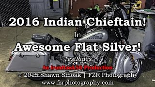 The Awesome 2016 Indian Chieftain! - In Flat Silver! | TestRides