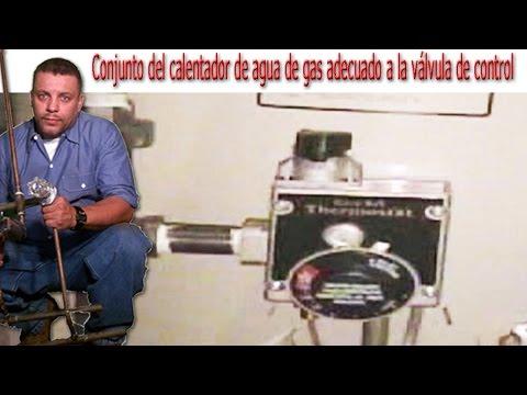 Conjunto del calentador de agua de gas adecuado a la válvula de control