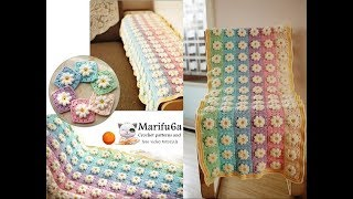 How to crochet rainbow afghan blanket free easy pattern tutorial for begginer