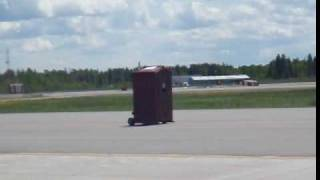 Jet-powered porta-potty