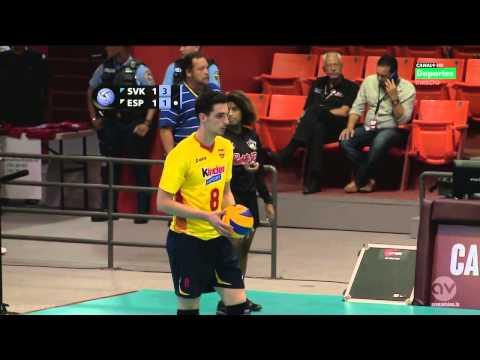 España 1 - 3 Eslovaquia  (Liga Mundial de Voleibol Masculino 2014) Puerto Rico