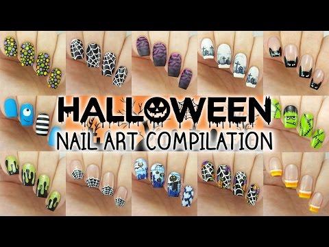 Halloween Nail Art Compilation | 12 Designs! - YouTube