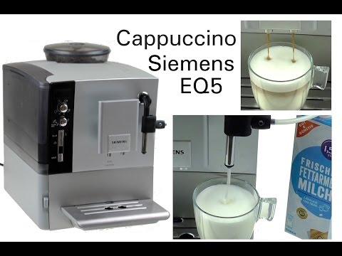 Produkt Test Siemens EQ5 macchiato   Cappuccino Test   Milchschäumer verwenden   Teil 2
