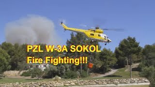 PZL W-3A Sokol Helicopter: Firefighting on Mallorca!!!