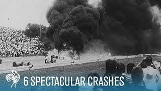 6 Spectacular Car Crashes: Grand Prix Drivers | British Pathé