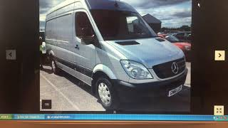 buying a Mercedes sprinter at auction for self build campervan conversion