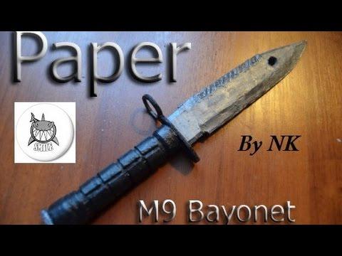 Как сделать нож байонет м9 из бумаги - Vento-divino.ru
