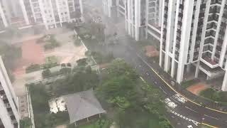 Happening now Typhoon Mangkhut Strike in Hongkong