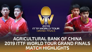 Fan Zhendong/Xu Xin vs Lin Yun-Ju/Liao C-T. | 2019 ITTF World Tour Grand Finals Highlights (Final)