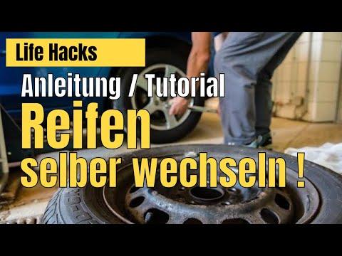 Reifen wechseln  [Tutorial um Auto Reifen selbst zu wechseln]
