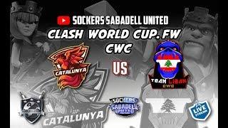 LIVE. PARTE 1. FW CWC / CWC CATALUNYA VS. CWC LEBANON. Clash of Clans