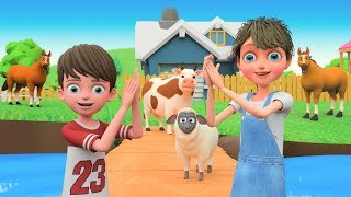 If You Are Happy and You Know It Nursery Rhymes In Outdoor Playground For Kids