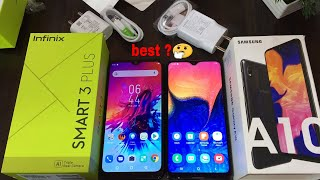 Infinix Smart 3 Plus vs Samsung A10 Unboxing,review and full compare in hindi