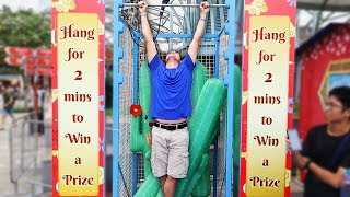 Hang Challenge is the HARDEST Carnival game ever!!