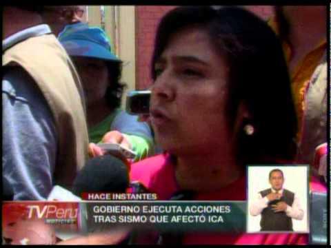Ministra de la Mujer y Poblaciones Vulnerables monitorea acciones en Ica