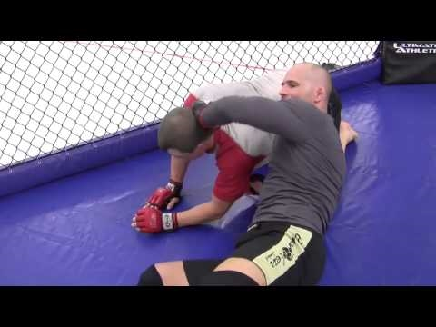 Mac's MMA Techniques:  Cage Takedown into D'arce Choke by Len Sonia Image 1