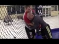 Mac's MMA Techniques:  Cage Takedown into D'arce Choke by Len Sonia Image 2