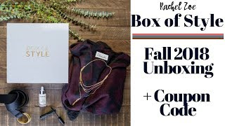 Box of Style Fall 2018 Subscription Box Unboxing