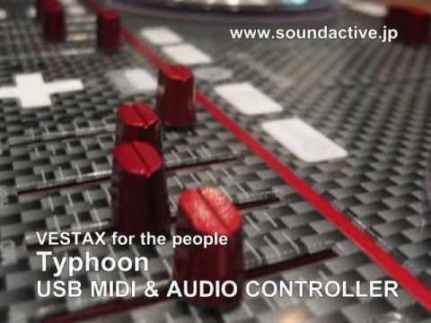 NAMM2010 VESTAX Typhoon MIDI controller for MAC & WIN