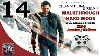 Quantum Break Walkthrough - HARD - All Collectibles ACT 4 Junction / TV Show