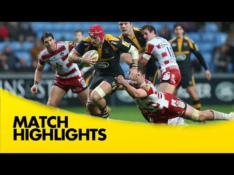 Wasps Vs Gloucester - Aviva Premiership 2015/16  | Rugby Video Highlights