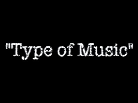 TYPE OF MUSIC (featuring a typewriter)